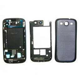 Full Housing for use with Samsung Galaxy S3 Blue AT&T I747