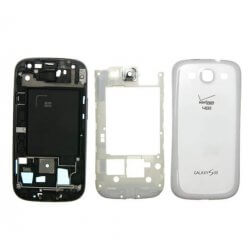 Full Housing for use with Samsung Galaxy S3 White Verizon/US Cellular I535/R530