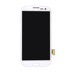LCD Screen & Digitizer Assembly, Marble White, for use with Samsung Galaxy S3 I9300, No Frame