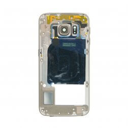 Back Housing for use with Samsung Galaxy S6 Edge G925, with Small Parts, Gold