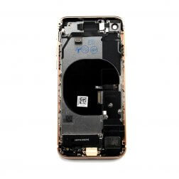 Back cover assembly with small parts for use with iPhone 8 Gold (no logo)