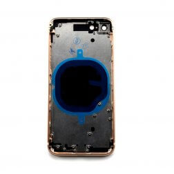 Back Frame w/ Glass for use with iPhone 8 Gold (no logo)