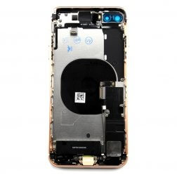 Back cover assembly with small parts for use with iPhone 8+ Gold (no logo)