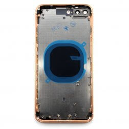 Back Frame w/ Glass for use with iPhone 8+ Gold (no logo)