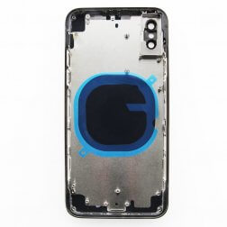 Back glass for use with iPhone X  Black (no logo)