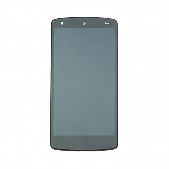 LCD with Digitizer Assembly for use with LG Google Nexus 5 D820, Black, with Frame