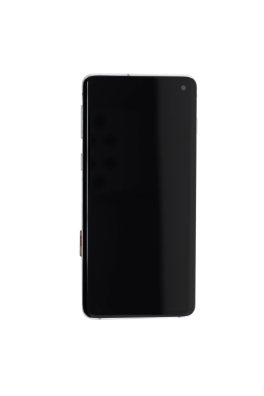 OLED Assembly (With Frame) for use with Samsung Galaxy S10 (White)