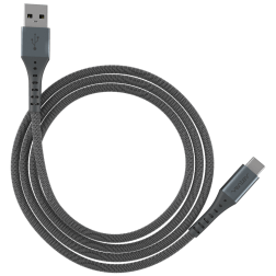 ChargeSync Alloy USB-C Charge Cable (10ft)(Steel Gray)
