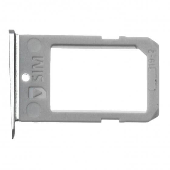 SIM Tray for use with the Samsung Galaxy S6 Edge, Silver