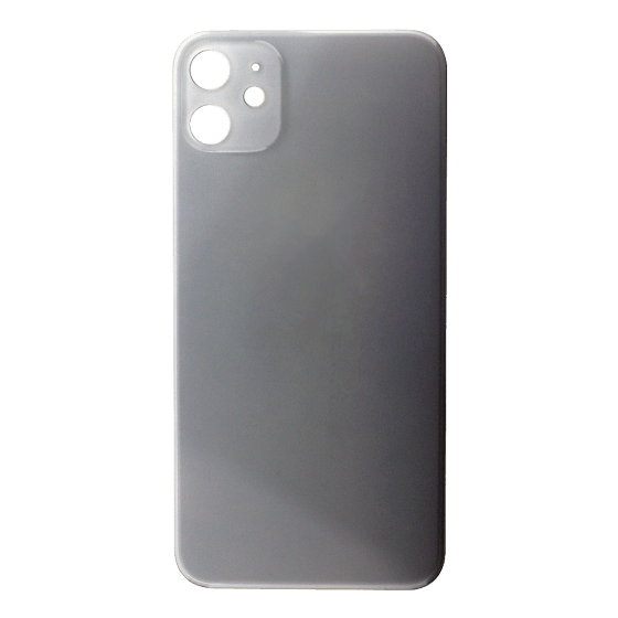 Back Glass (No Logo) for use with iPhone 11 (White)