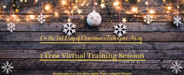 On the 3rd Day of GIVEAWAYS - Free Training
