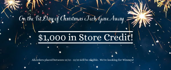 On the 1st Day of GIVEAWAYS - $1000 Store Credit!