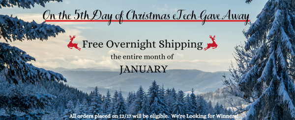 On the 5th Day of GIVEAWAYS - Free Overnight Shipping all January