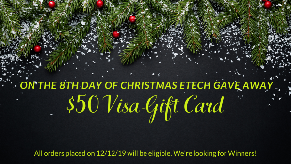 On the 8th Day of GIVEAWAYS - A $50 Visa Gift Card