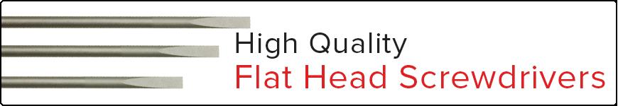 High Quality Flathead Screwdrivers